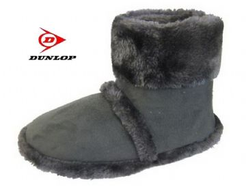 Dunlop Cooler Boot Style Slippers Grey